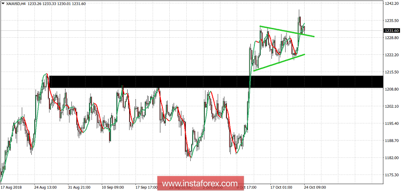 Technical analysis of Gold for October 24, 2018